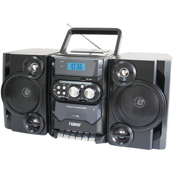 Portable MP3/CD Player with AM/FM Radio & Detachable Speakers