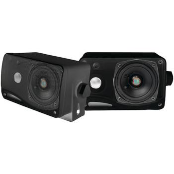 """Hydra Series 3.5"""" 200-Watt 3-Way Weatherproof Mini-Box Speaker System (Black)"""