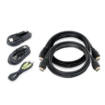 6ft Dual HDMI USB KVM CableKit
