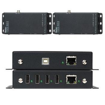 USB 2.0 4 Port Extender Black