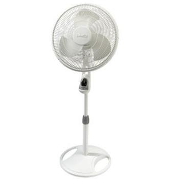 "16"" Oscillating Stand Fan Wht"