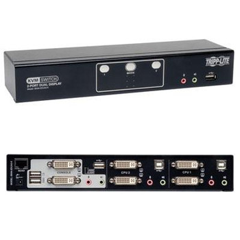 2 Port Dual Mon DVI KVM Switch