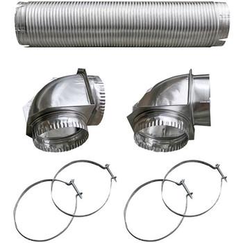 Semi-Rigid Dryer Vent Kit with Close Elbow(R)
