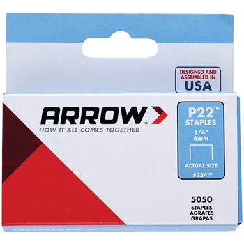 P22(TM) Plier Staples, 5,050 pack (1/4 Inches)