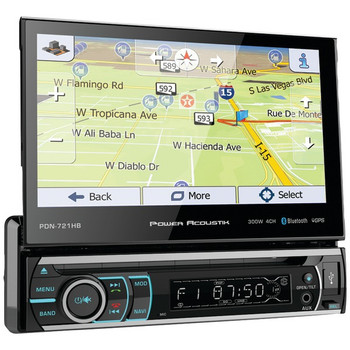"""7"""" Incite Single-DIN In-Dash GPS Navigation Motorized LCD Touchscreen DVD Receiver with Detachable Face & Bluetooth(R)"""