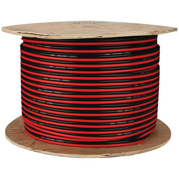 Red/Black Paired Primary Speaker Wire, 500ft (16 Gauge)