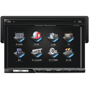 """7"""" Single-DIN In-Dash LCD Touchscreen DVD Receiver with Detachable Face (With Bluetooth(R))"""