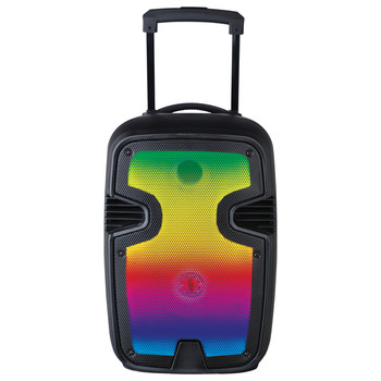 Portable 12-Inch Bluetooth(R) Blaze Speaker with Full Glow Disco Lights