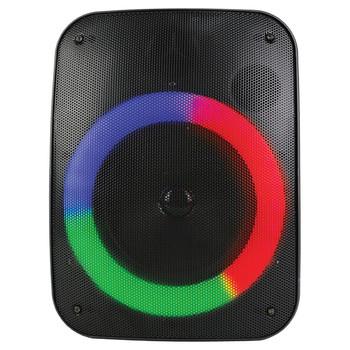 Sound Pro 6.5-Inch 1,500-Watt Portable Bluetooth(R) Speaker and Circular Disco Lights