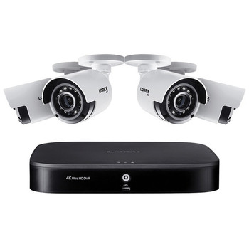 4K Ultra HD Analog 8-Channel Security System with DVR and 4K Ultra HD Bullet Security Cameras (1 TB DVR, 4 Cameras)
