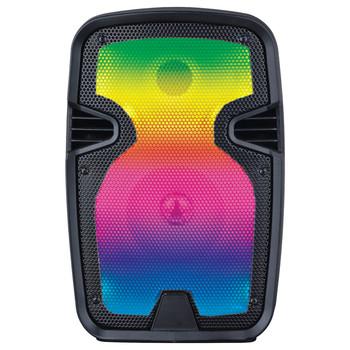 Sound Pro 8-Inch 2,000-Watt Portable Bluetooth(R) Blaze Speaker with Full-Glow Disco Light and Microphone