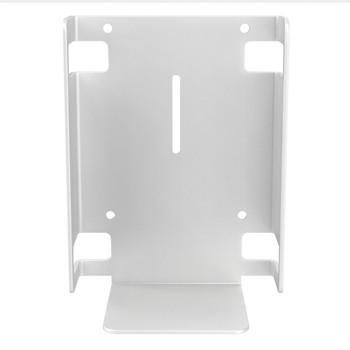 Metal Sanitizer Bottle Holder for Mobile Floor Stands (White)
