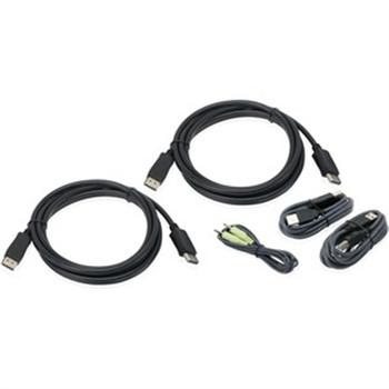 10ft USB Dual DisplayPort KVM