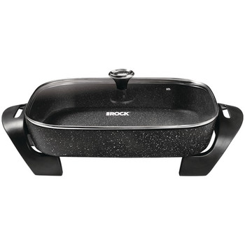 THE ROCK(TM) by Starfrit(R) 12-Inch x 15-Inch 1,200-Watt Extra-Large Electric Skillet with Glass Lid