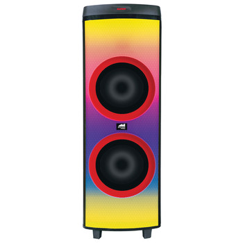 Sound Pro Dual 12-Inch 6,000-Watt Portable Bluetooth(R) Blaze Speaker with Full Glow Disco Lights and Microphone