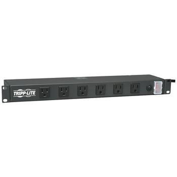 1U Rack-Mount 12-Outlet 120-Volt Transformer-Friendly Power Strip, 15-Foot Cord