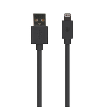 PVC Charge and Sync Lightning(R) Cable, 10 Feet (Black)