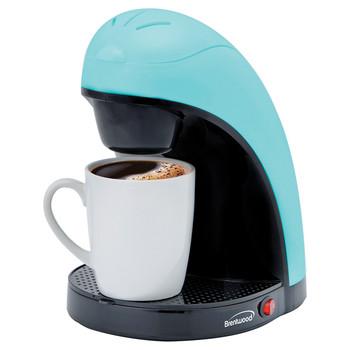 Single-Serve Coffee Maker with Mug (Blue)