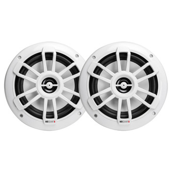 Nautic Series 6.5-Inch 80-Watt Coaxial Speakers (White)