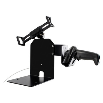 Security Universal Holder POS Station with Printer Stand and Magnetic Scanner Holder for 7-Inch to 13-Inch Tablets