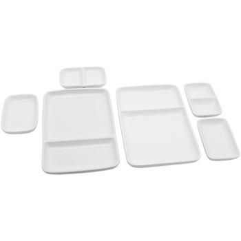 Ceramic Modular Fondue Serving Dishes, 2 Sets
