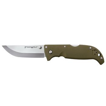 Finn Wolf Green Folding Utility and Camp Knife