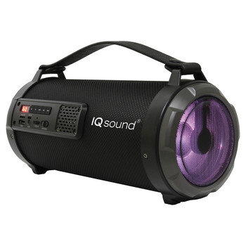 IQ-2304BT 4-Inch 2-Way 11.5-Watt Portable Bluetooth(R) Rechargeable Speaker with FM Radio and RGB Lights