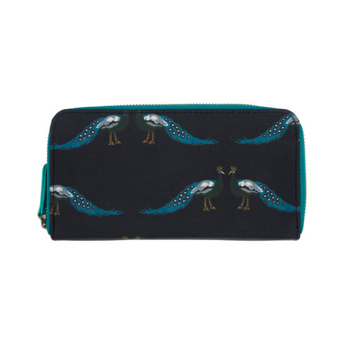Peacocks Oilcloth Wallet