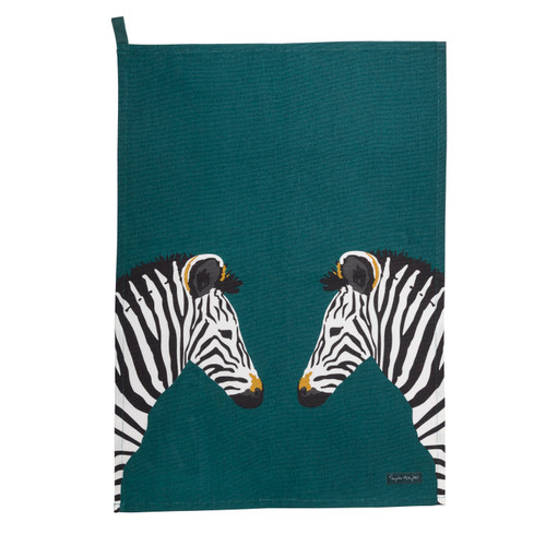Zebra Scene Tea Towel
