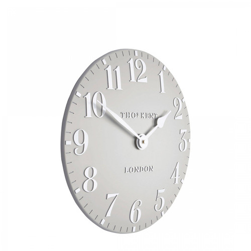 "Arabic 12"" Clock Dove Grey"