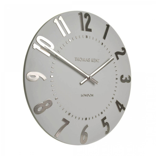 "Mulberry 20"" Silver Cloud Clock"
