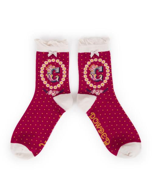 Ladies C Ankle Socks