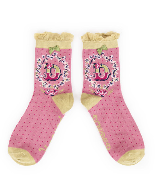 Ladies D Ankle Socks