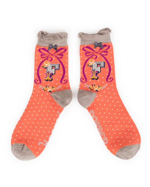 Ladies F Ankle Socks