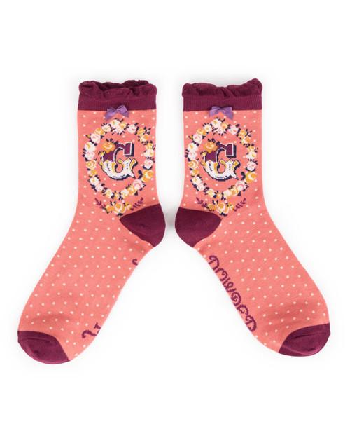 Ladies G Ankle Socks