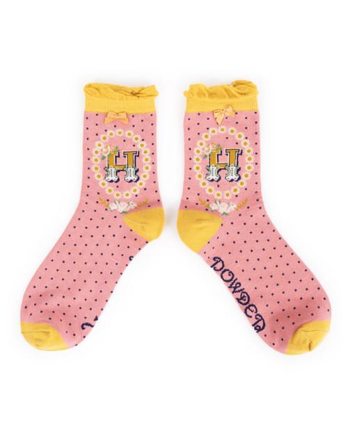 Ladies H Ankle Socks