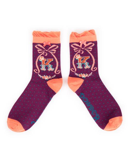 Ladies K Ankle Socks