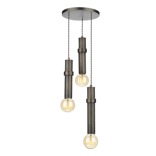 Adling 3 Light Pendant In Ant Brass