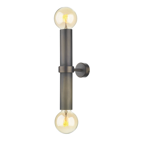 Adling Double Wall Light In Antique Brass