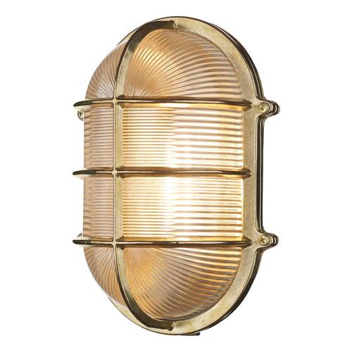 Admiral Large Oval Wall Bulkhead Brass IP64