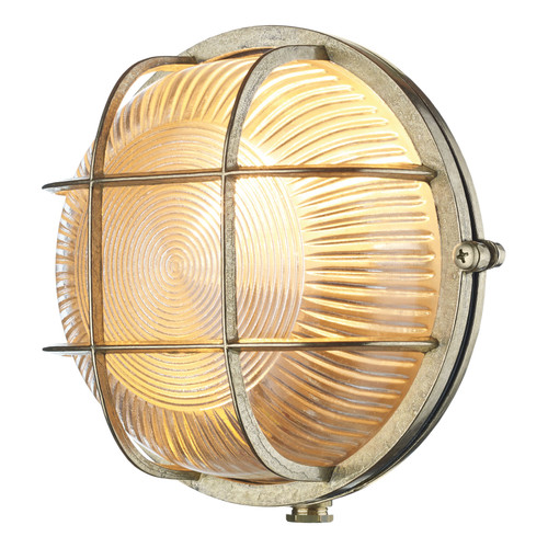 Admiral Round Wall Light Brass IP64