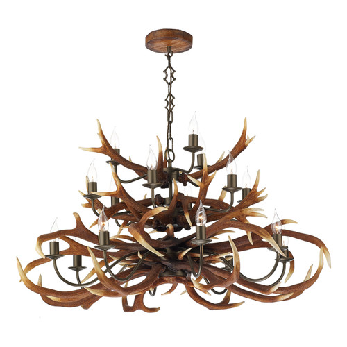 Antler 17 Light Tiered Pendant