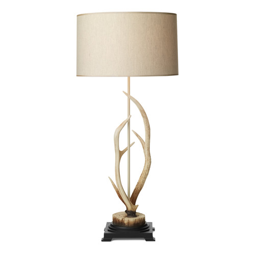 Antler Bleached Table Lamp Complete With Shade