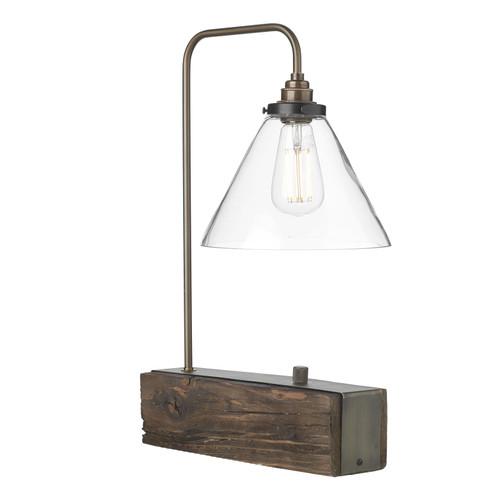 Aspen Single Table Lamp In Wood Effect