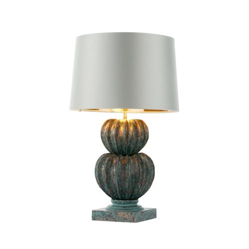 Botany Table Lamp In Verdigris Finish