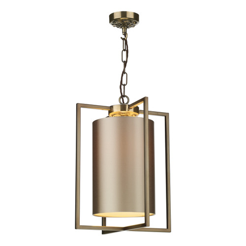 Chiswick Single Pendant With Shade In Antique Brass