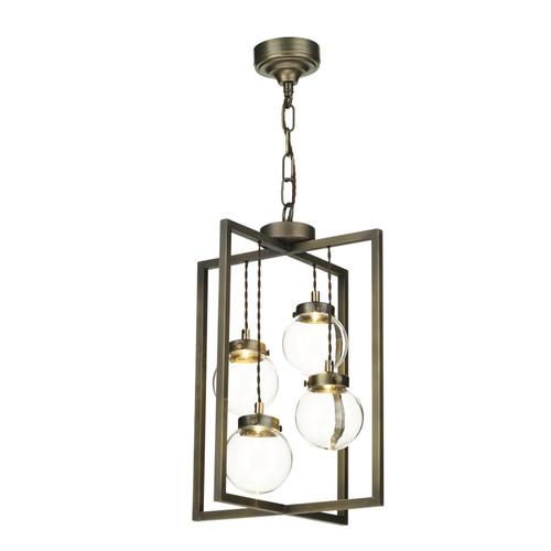 Chiswick 4 Light Lantern Antique Brass