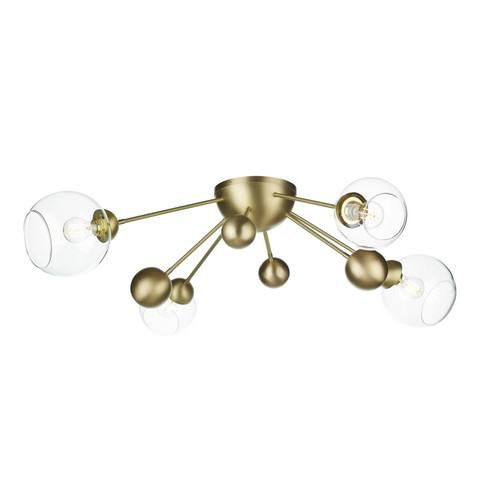 Cosmos 4 Light Semi Flush In Butter Brass