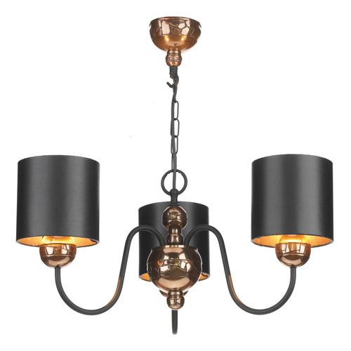 Garbo 3 Light Pendant Bronze Complete With Black Bronze Shades