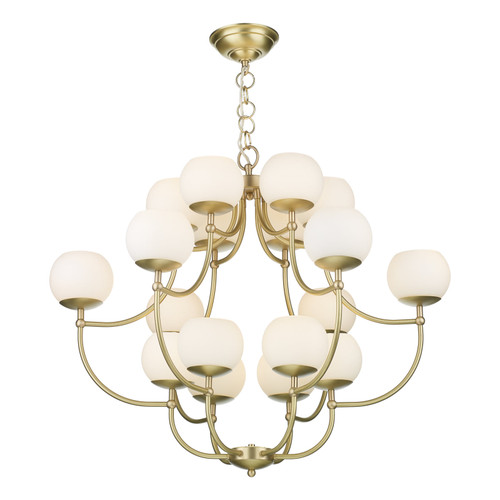 Opera 18 Light Pendant In Butter Brass Comes With Glass Shades